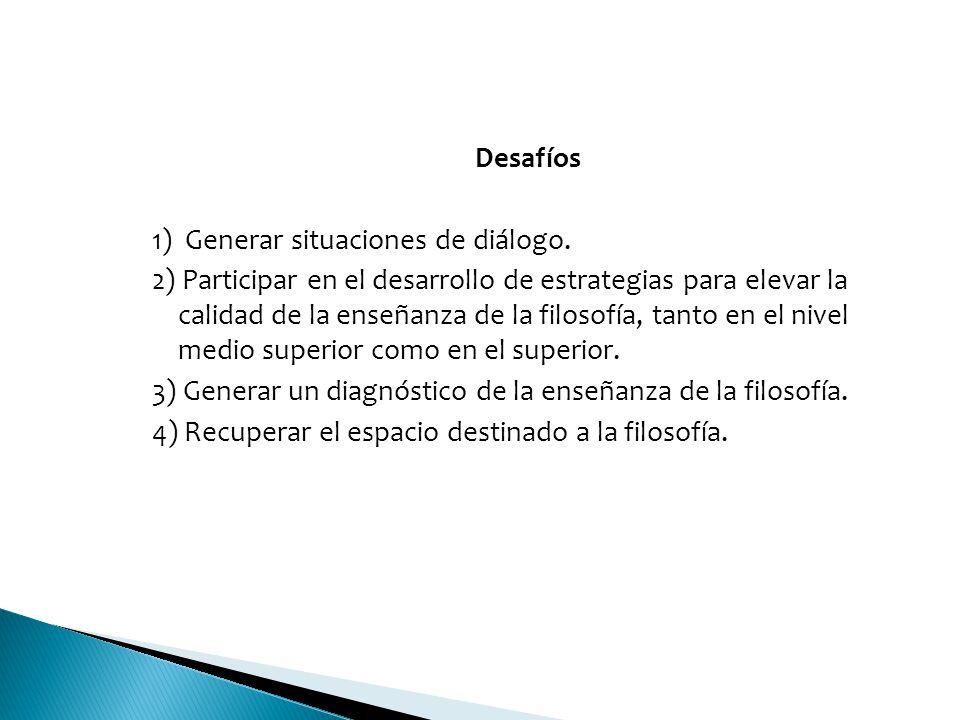 Desafíos 1) Generar situaciones de diálogo.