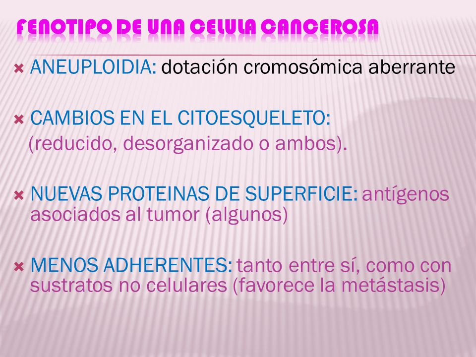 FENOTIPO DE UNA CELULA CANCEROSA