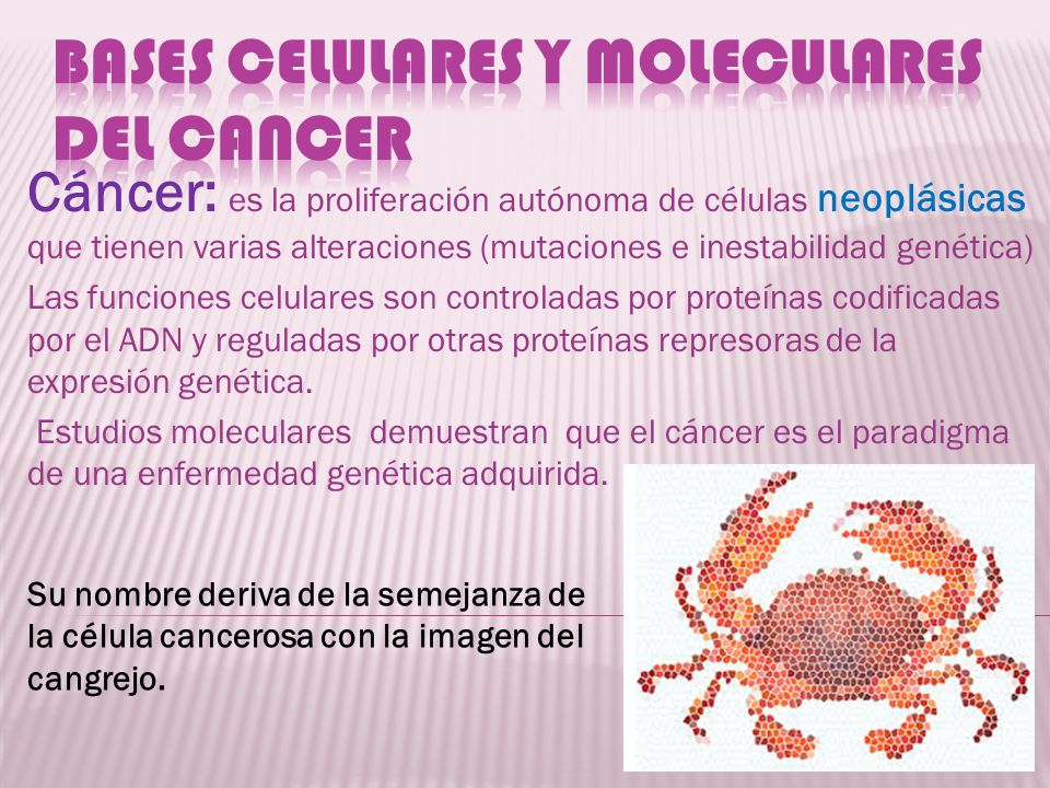 Bases celulares y moleculares del cancer