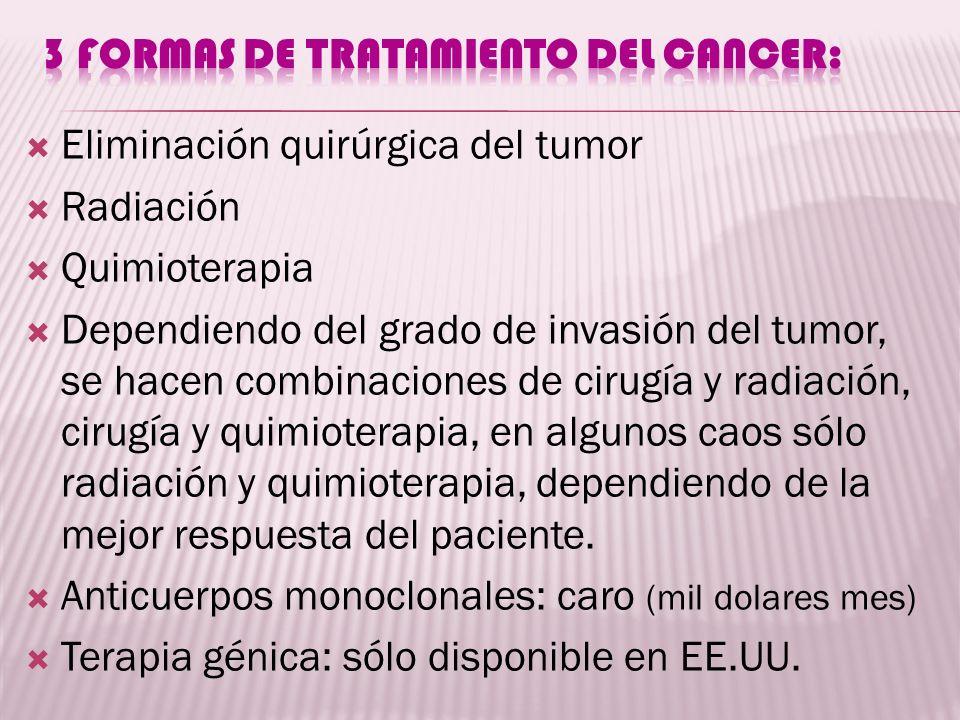 3 formas de tratamiento del cancer: