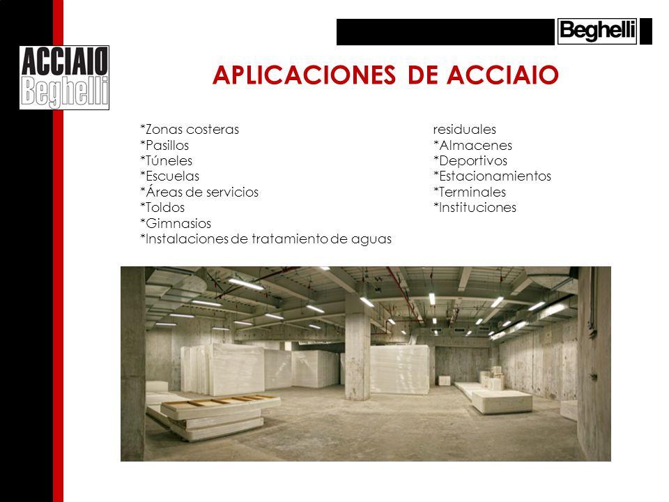 APLICACIONES DE ACCIAIO