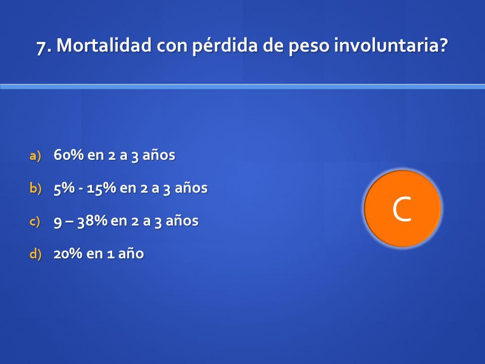 7. Mortalidad con pérdida de peso involuntaria