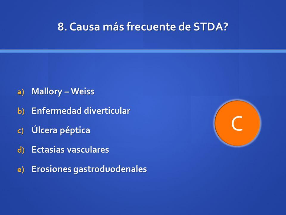 8. Causa más frecuente de STDA