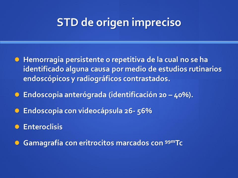 STD de origen impreciso