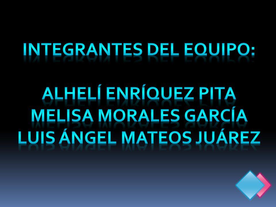 INTEGRANTES DEL EQUIPO: LUIS ÁNGEL MATEOS JUÁREZ