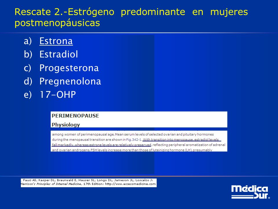 Rescate 2.-Estrógeno predominante en mujeres postmenopáusicas