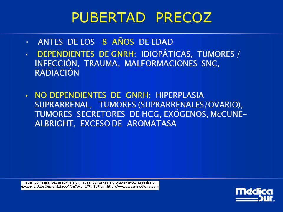 PUBERTAD PRECOZ ANTES DE LOS 8 AÑOS DE EDAD