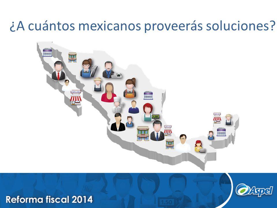 ¿A cuántos mexicanos proveerás soluciones