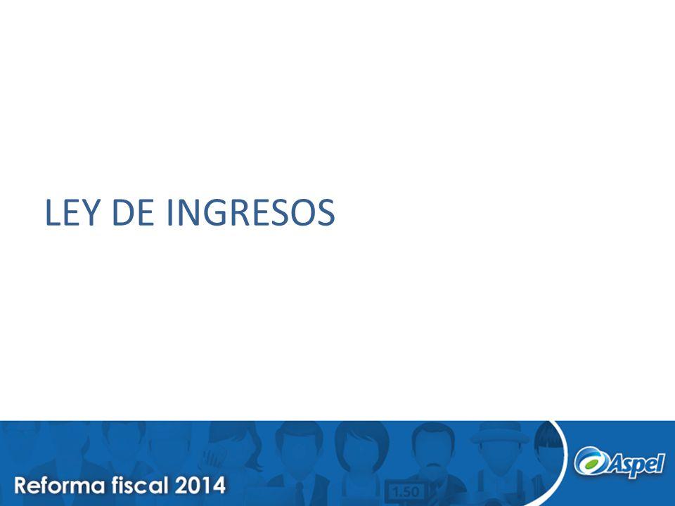LEY DE INGRESOS