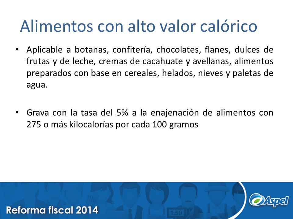 Alimentos con alto valor calórico