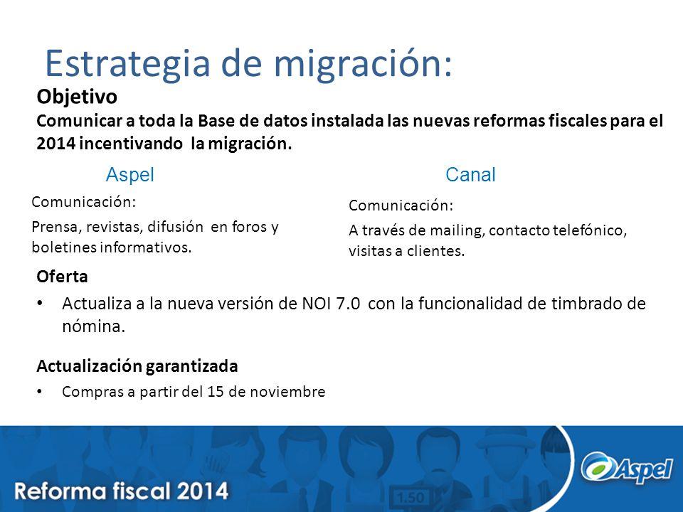 Estrategia de migración:
