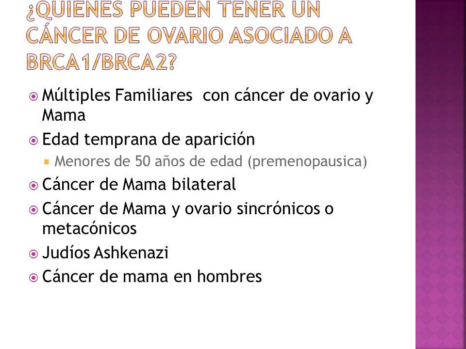 ¿Quiénes pueden tener un cáncer de ovario asociado a BRCA1/BRCA2
