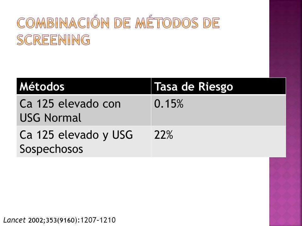 Combinación de Métodos de Screening