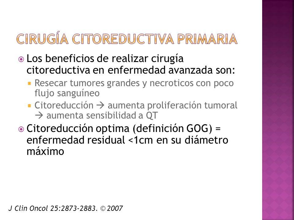 Cirugía citoreductiva primaria