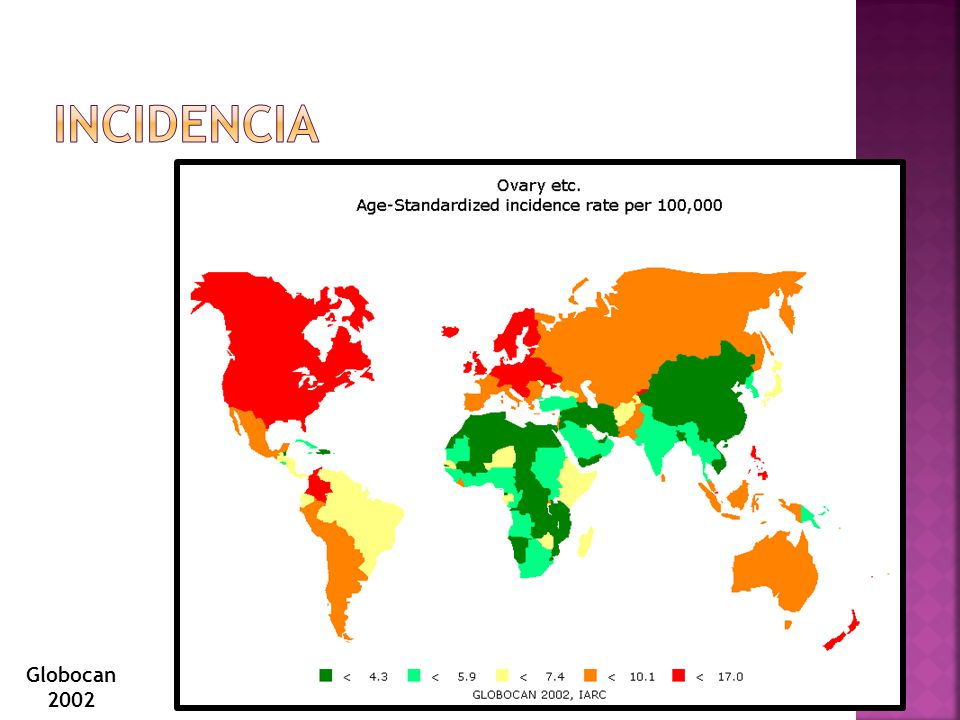 Incidencia Globocan 2002