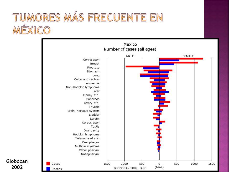 Tumores más frecuente en México