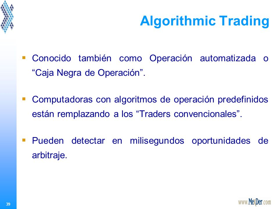Algorithmic Trading En resumen…