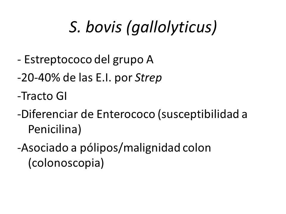 S. bovis (gallolyticus)