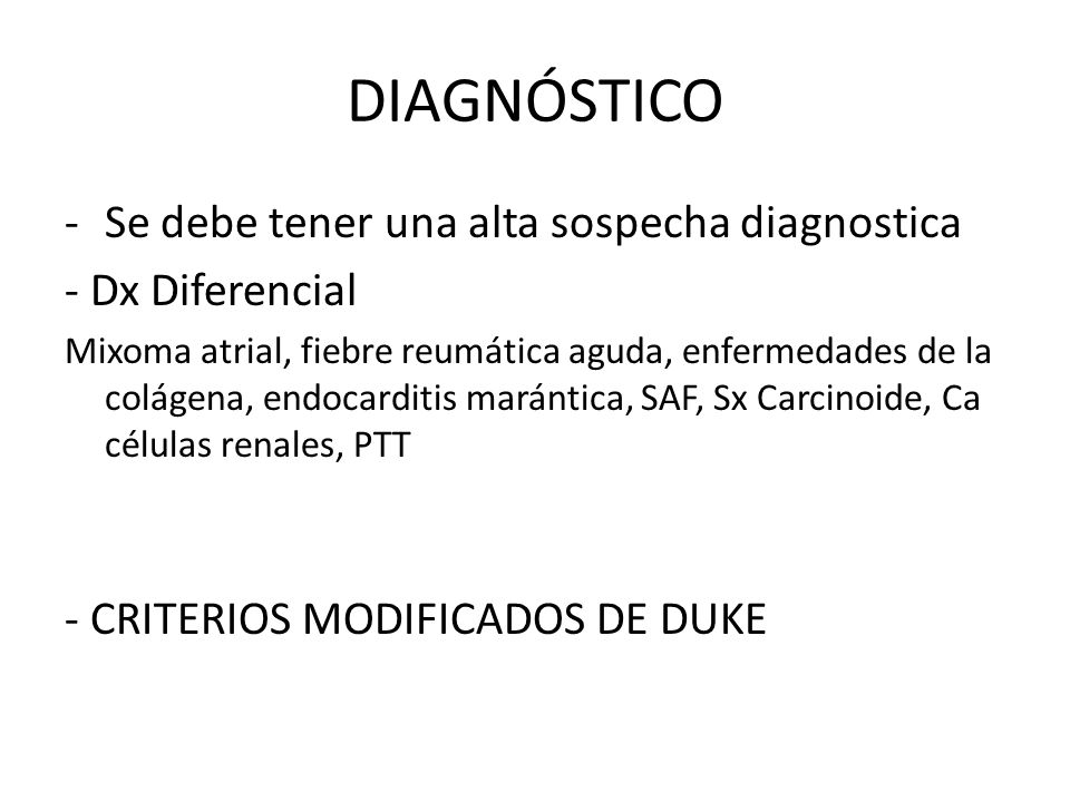 DIAGNÓSTICO Se debe tener una alta sospecha diagnostica