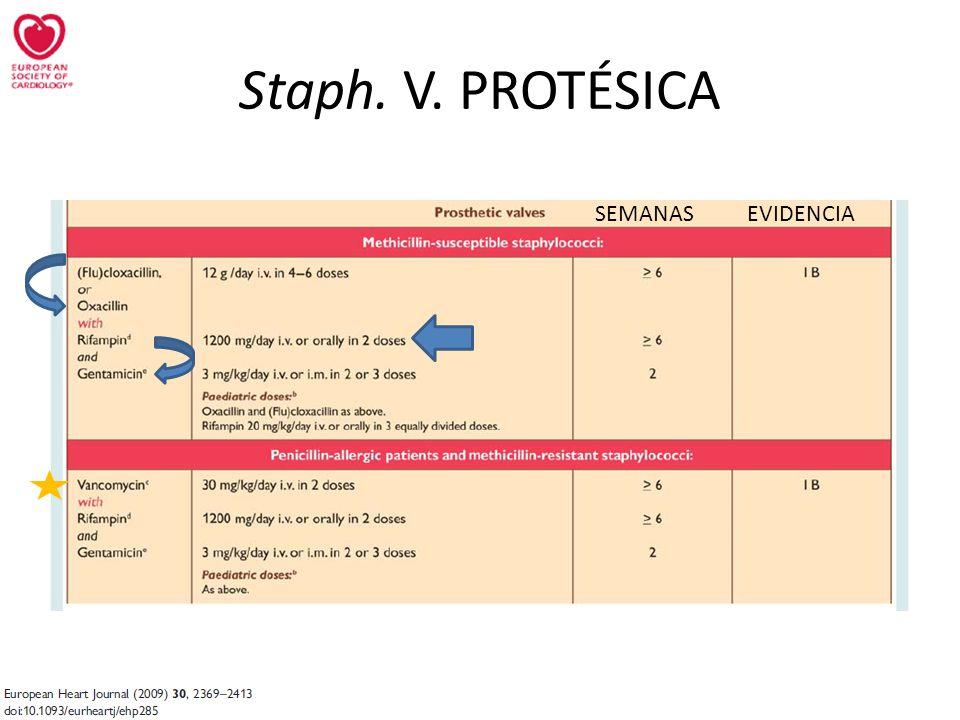 Staph. V. PROTÉSICA SEMANAS EVIDENCIA