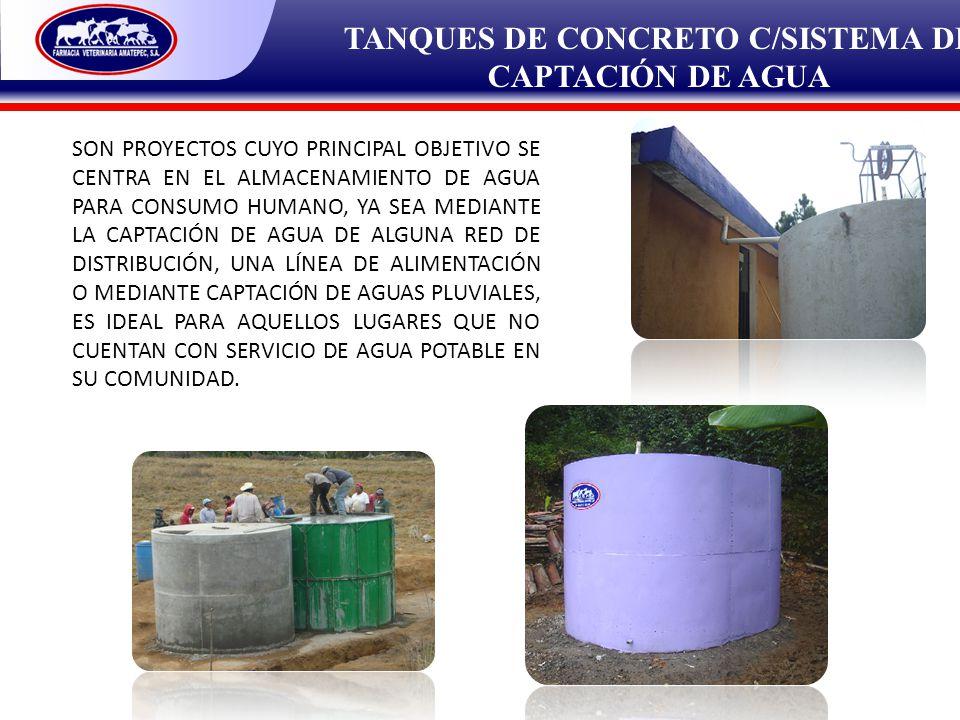 TANQUES DE CONCRETO C/SISTEMA DE CAPTACIÓN DE AGUA
