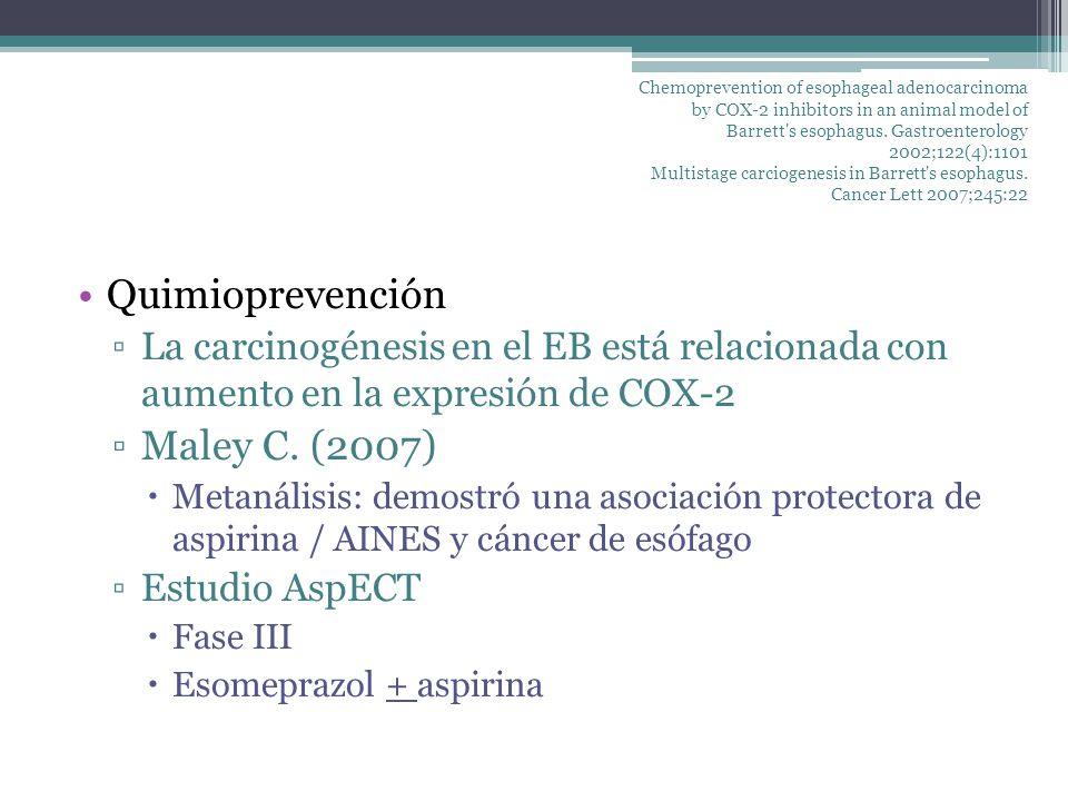 Quimioprevención Maley C. (2007)