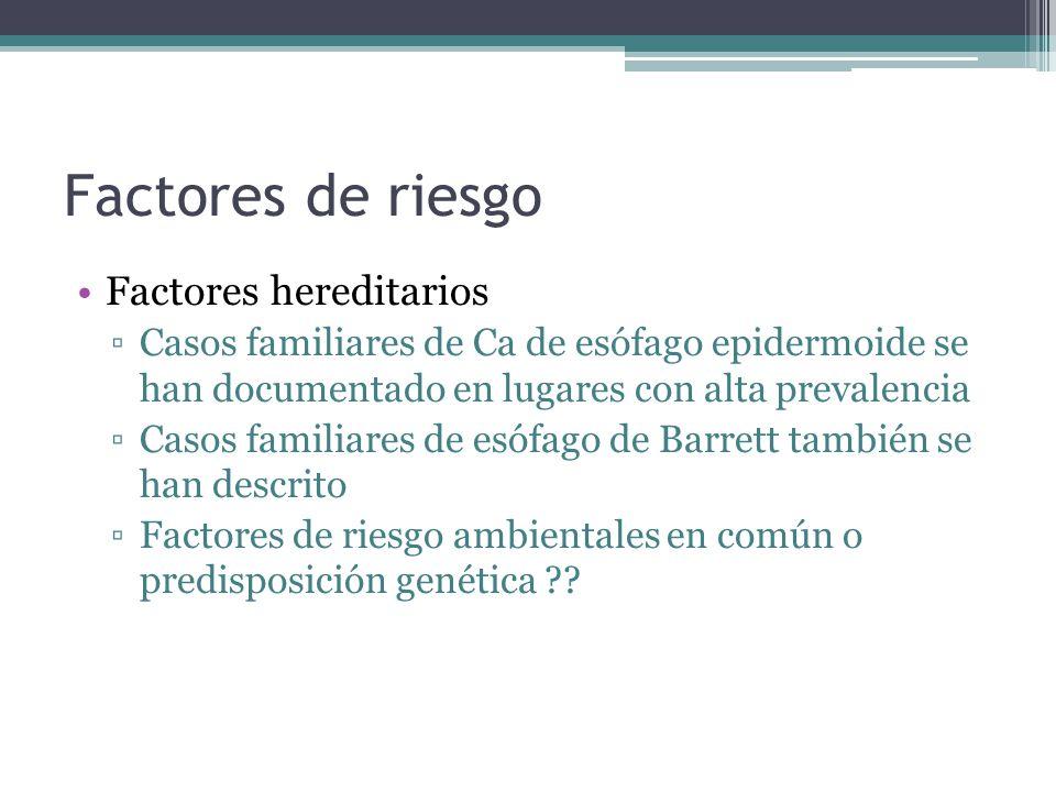 Factores de riesgo Factores hereditarios