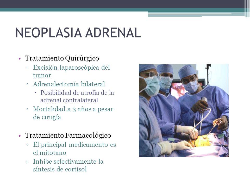 NEOPLASIA ADRENAL Tratamiento Quirúrgico Tratamiento Farmacológico