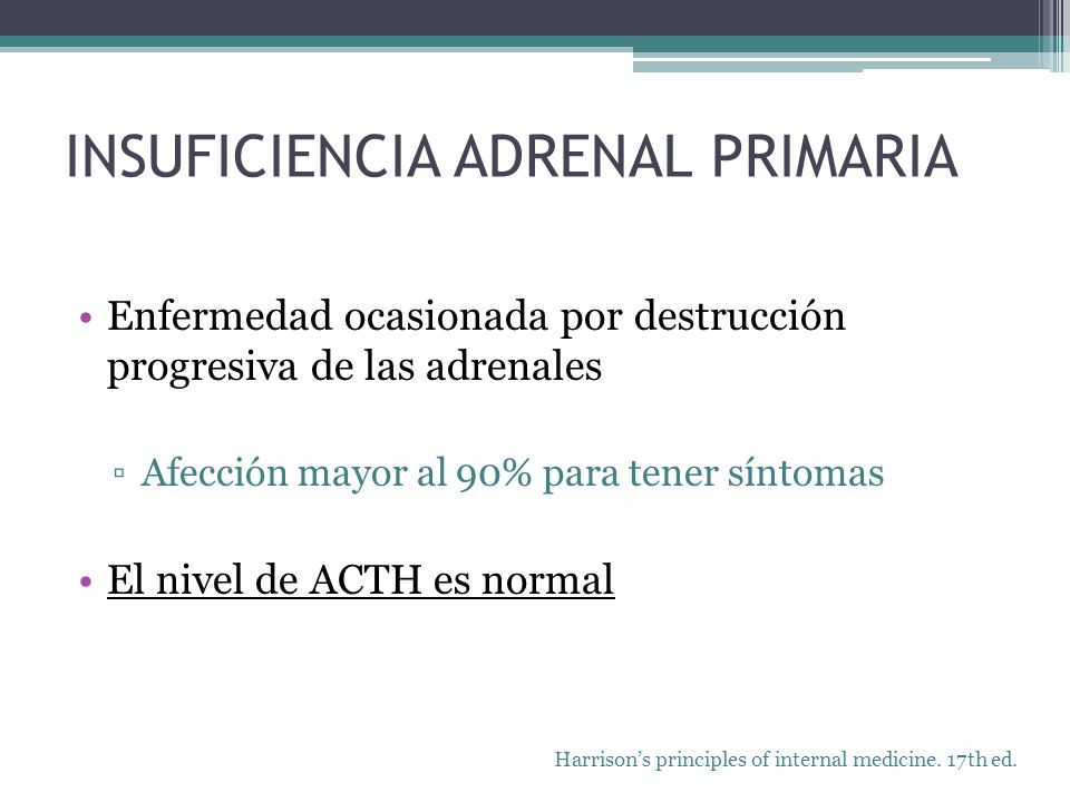 INSUFICIENCIA ADRENAL PRIMARIA