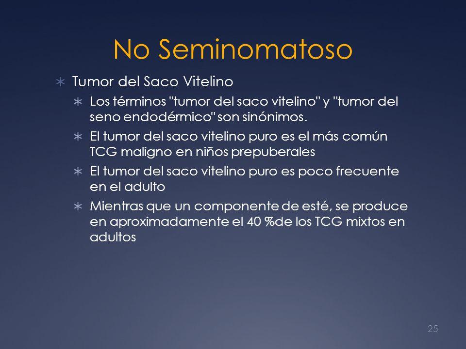 No Seminomatoso Tumor del Saco Vitelino