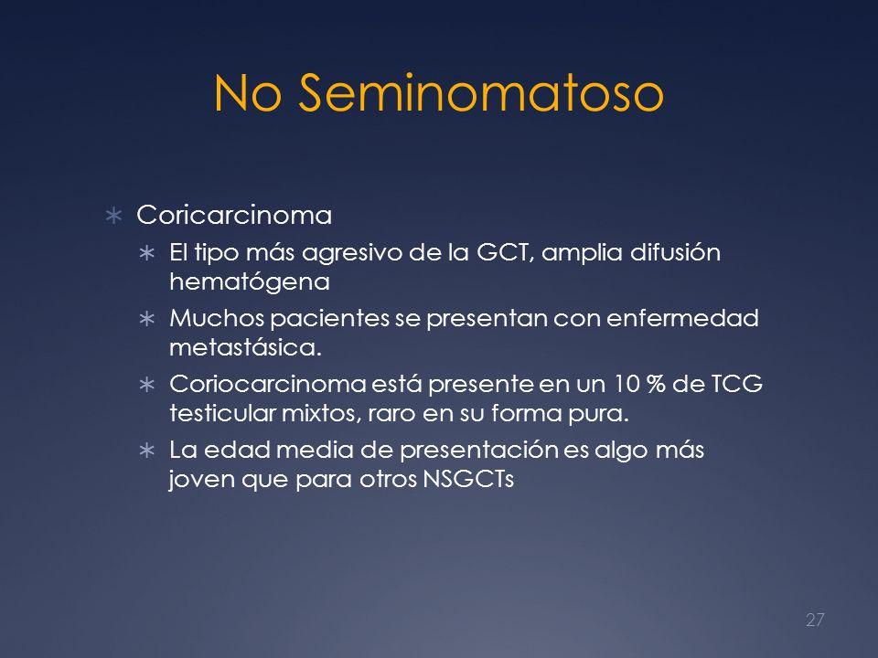 No Seminomatoso Coricarcinoma