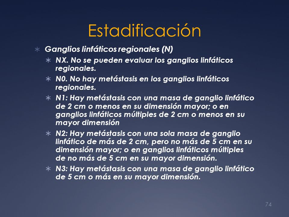 Estadificación Ganglios linfáticos regionales (N)