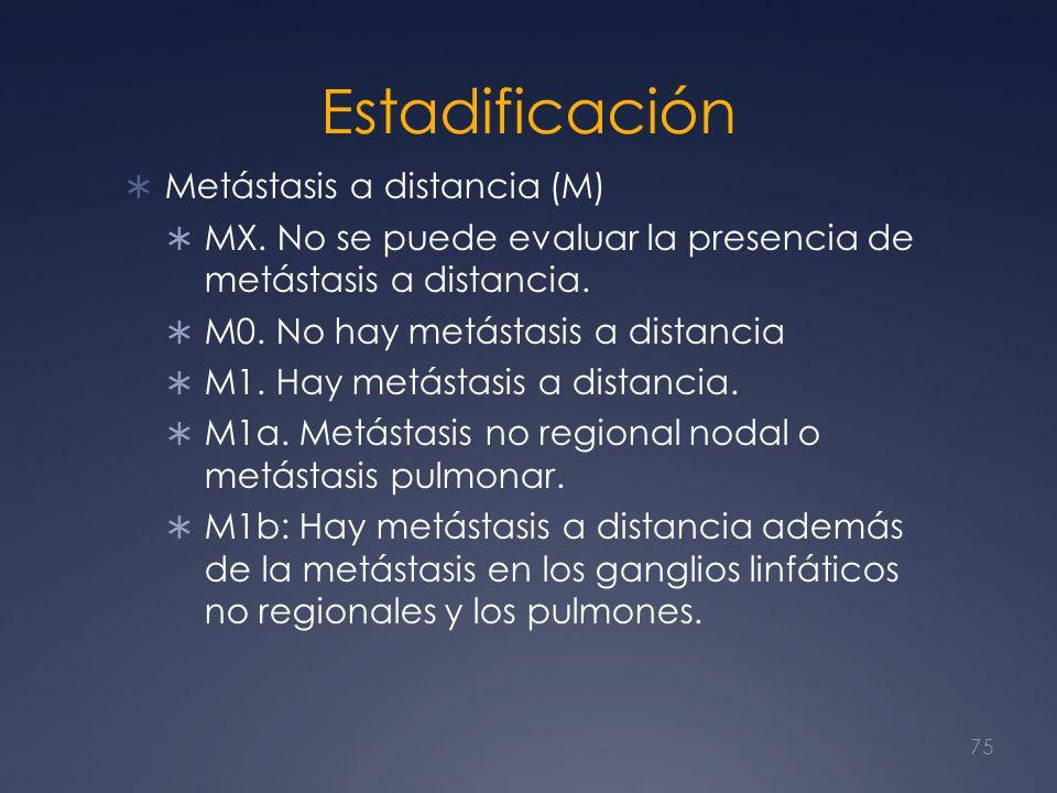 Estadificación Metástasis a distancia (M)
