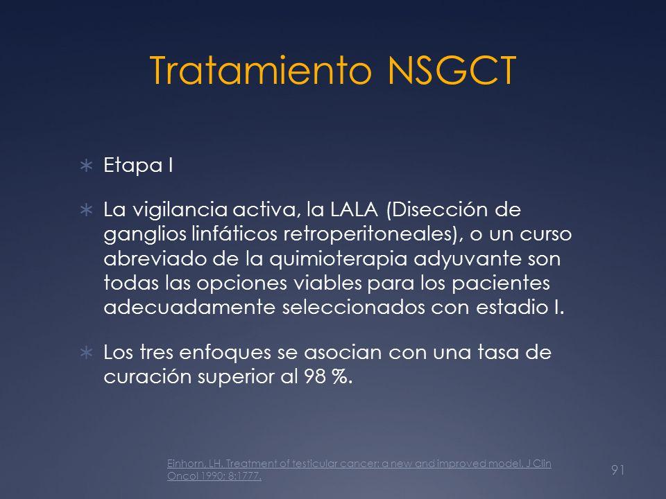 Tratamiento NSGCT Etapa I