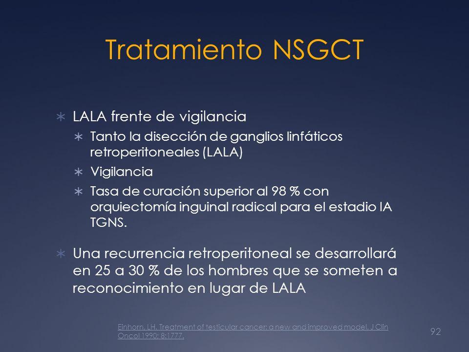 Tratamiento NSGCT LALA frente de vigilancia