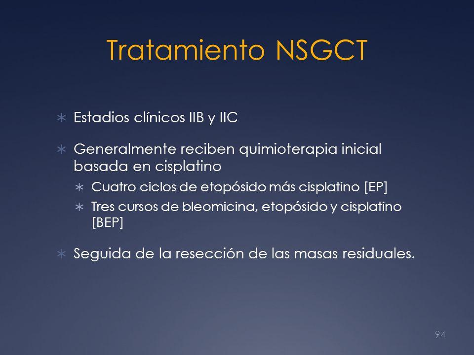 Tratamiento NSGCT Estadios clínicos IIB y IIC