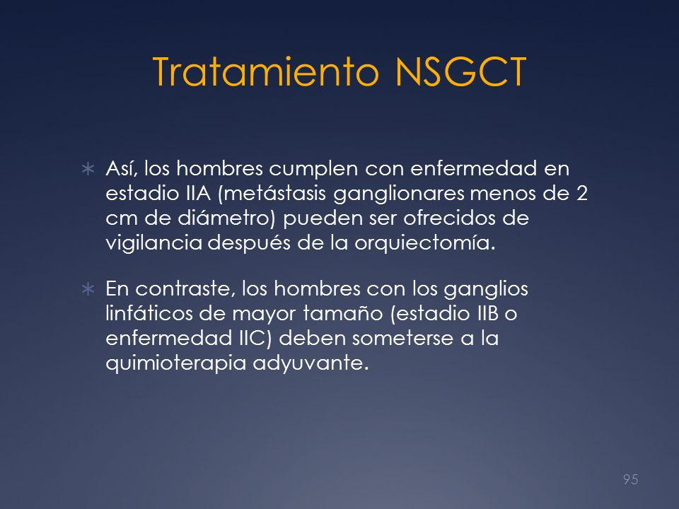 Tratamiento NSGCT