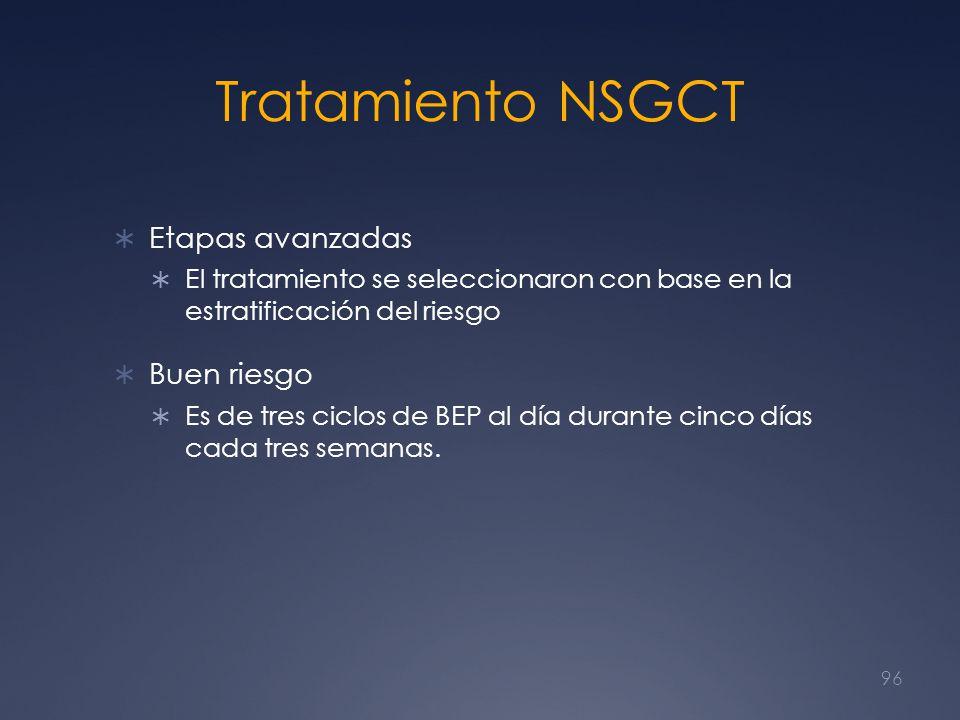Tratamiento NSGCT Etapas avanzadas Buen riesgo