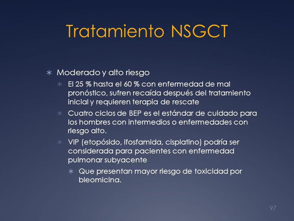 Tratamiento NSGCT Moderado y alto riesgo