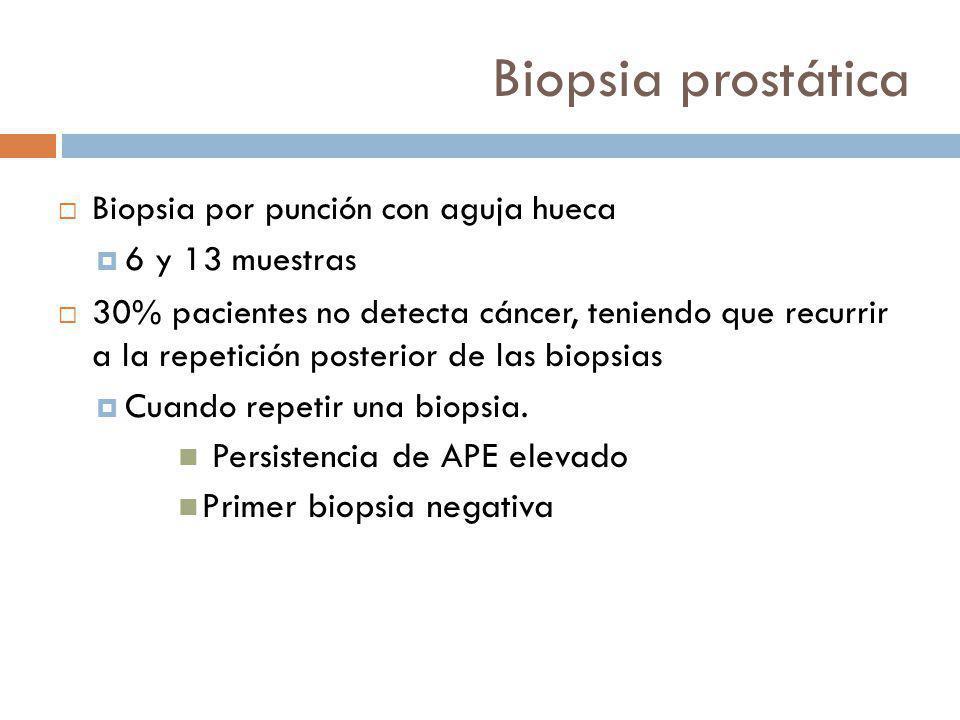 Biopsia prostática Persistencia de APE elevado Primer biopsia negativa