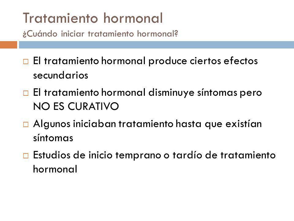 Tratamiento hormonal ¿Cuándo iniciar tratamiento hormonal