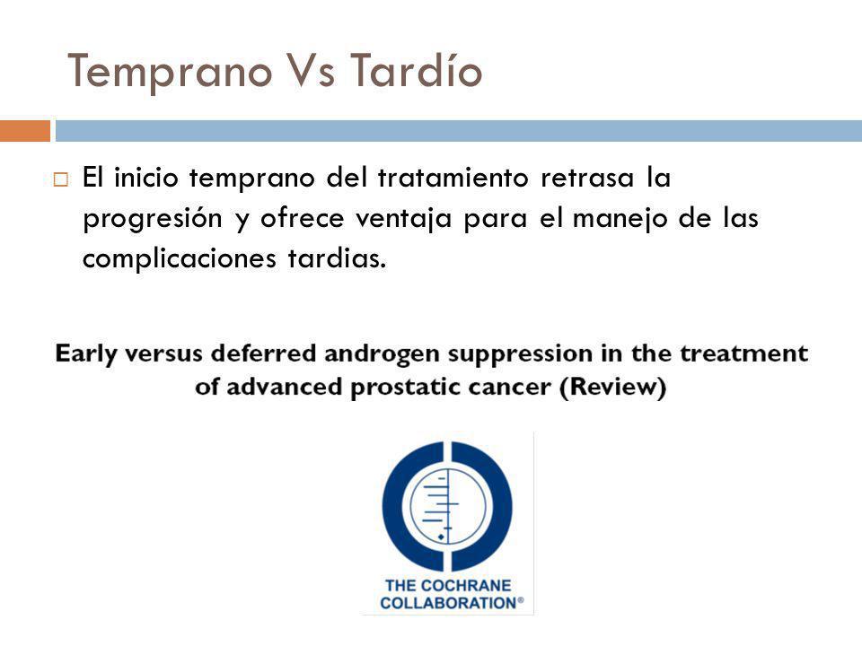 Temprano Vs Tardío El inicio temprano del tratamiento retrasa la progresión y ofrece ventaja para el manejo de las complicaciones tardias.