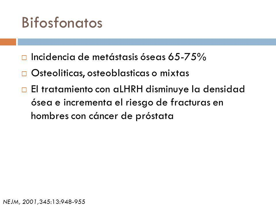 Bifosfonatos Incidencia de metástasis óseas 65-75%