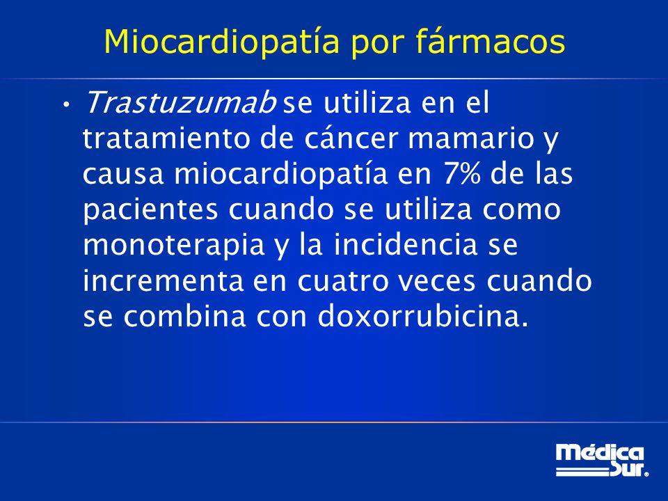 Miocardiopatía por fármacos