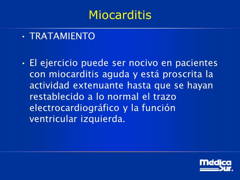 Miocarditis TRATAMIENTO