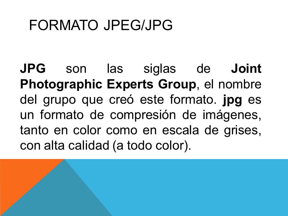 FORMATO JPEG/JPG