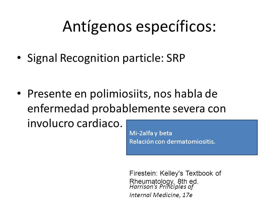Antígenos específicos: