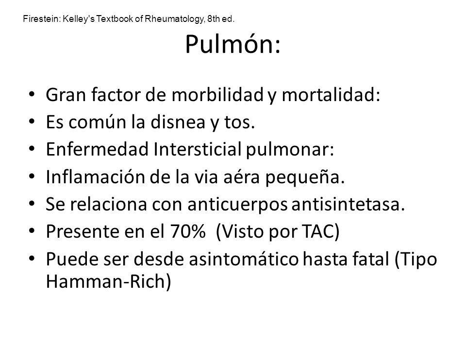 Pulmón: Gran factor de morbilidad y mortalidad: