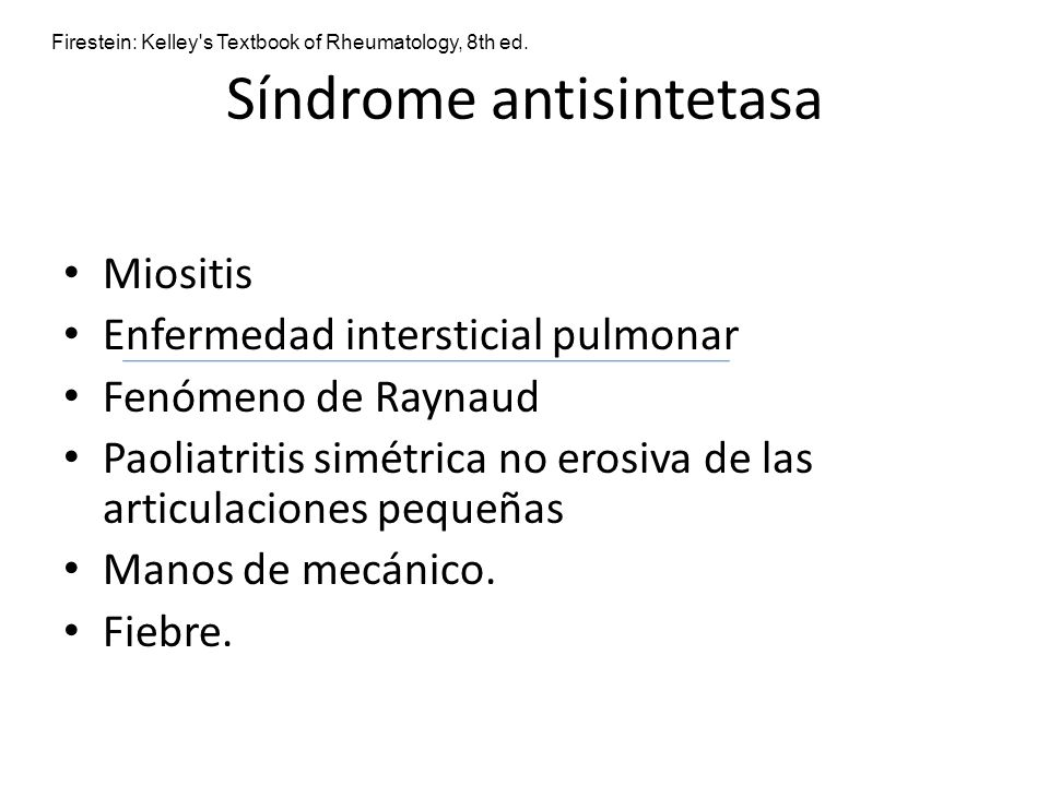 Síndrome antisintetasa