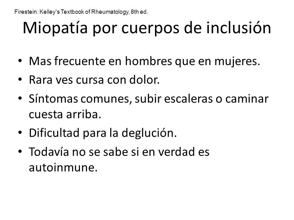 Miopatía por cuerpos de inclusión